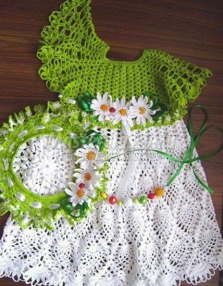 Очаровательное платьице для маленькой феи весны