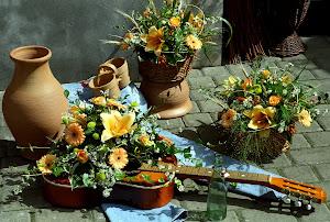 garbus w kwiatach...