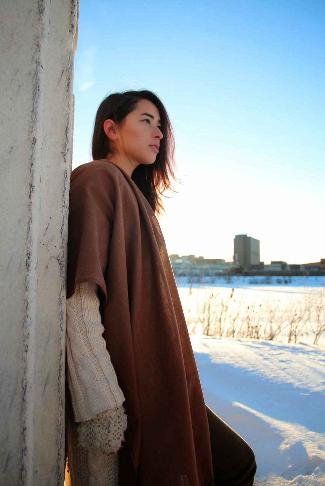 Winter ethical fashion blogger