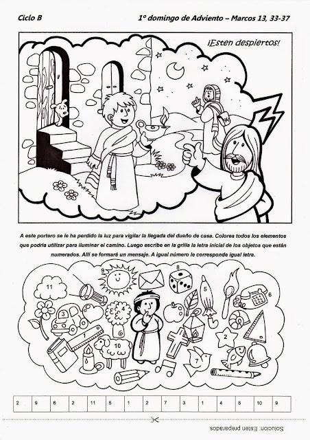 PASATIEMPOS Y CRUCIGRAMAS: Pasatiempos Primer Domingo de Adviento ...
