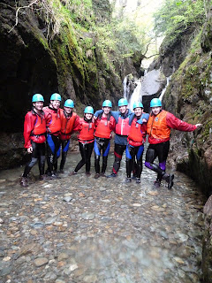 Ghyll Scrambling & Canyoning Sessions in North West England with Kendal Mountaineering Services.