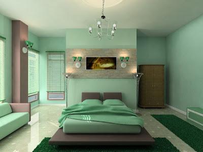 Moderna y Fresca Habitación de color Verde