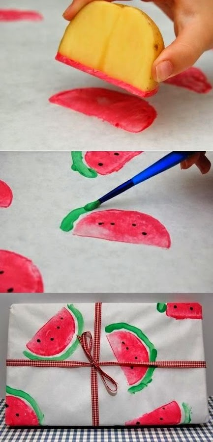 http://innerchildfun.com/2010/07/watermelon-wrapping-paper.html