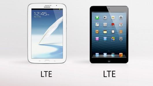 Samsung Galaxy Note 8 vs. Apple iPad Mini wireless