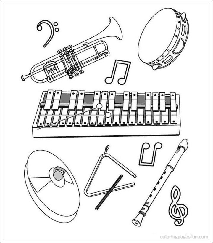 Ausmalbilder Instrumente Kostenlos