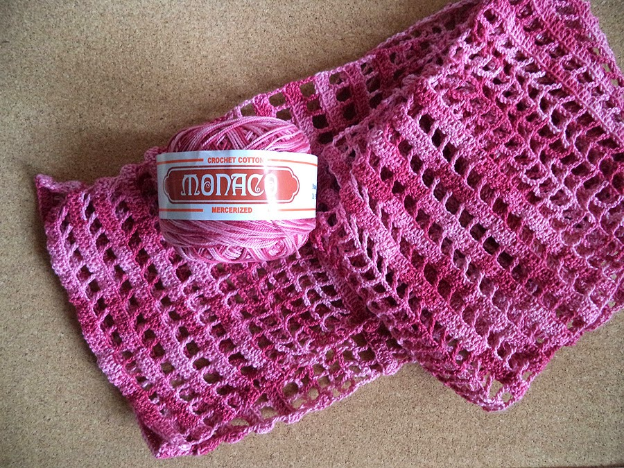 Art Li and Stuff - Crocheted Thread Lace Scarf and Monaco Thread