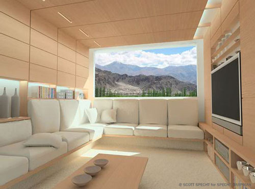 Home design ecological design futuristic house for Interior design room grid