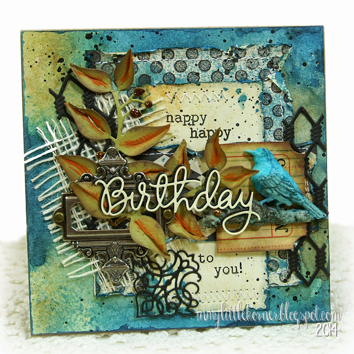 masculine happy birthday images In My Little Korner: Happy Birthday   Masculine Mixed Media Card masculine happy birthday images