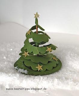 Weihnachtsbaum aus Spiralblume stanze von Stampin Up für Big Shot