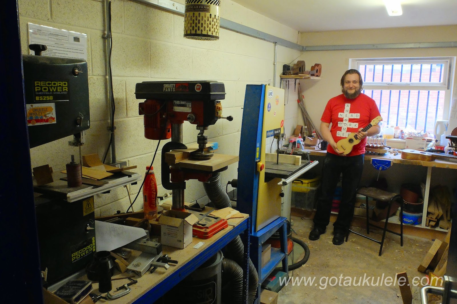 Rob Collins in his workshop