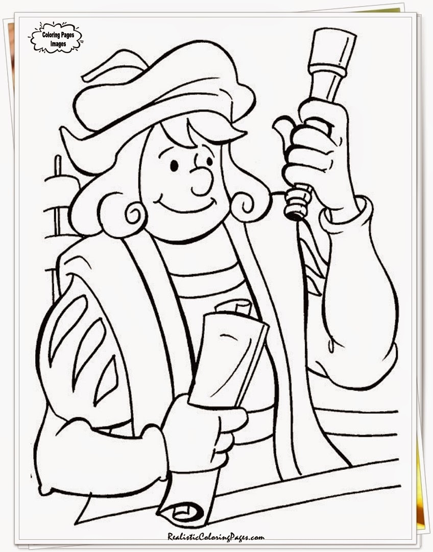 coloring pages of columbus day