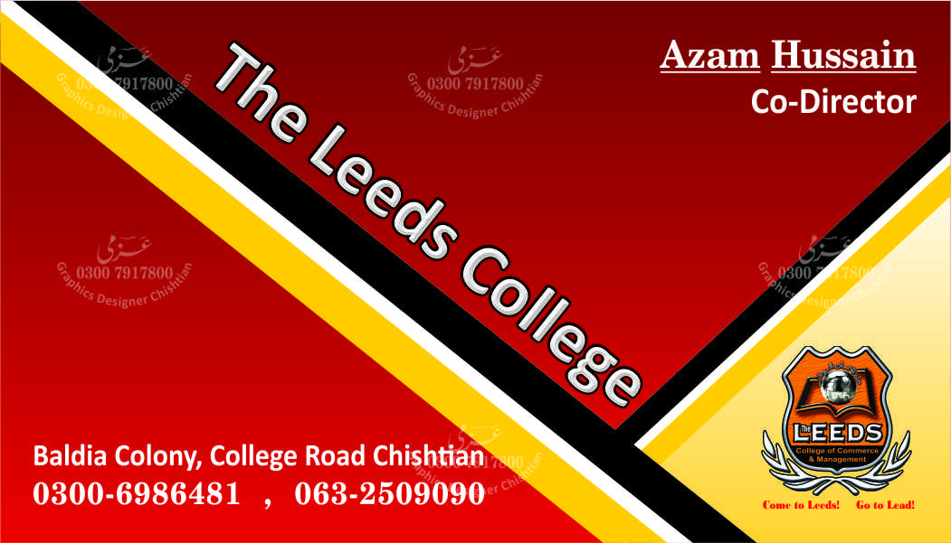 Unusual business cards leeds contemporary business card ideas leeds college chishtian business card by azmi azmi g reheart Choice Image