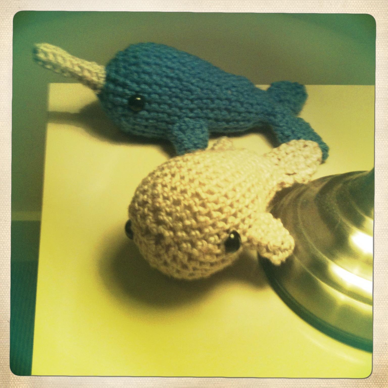 Mini Amigurumi Whale : Amigurumi Zoo: Narwhal !! And mini whale :)