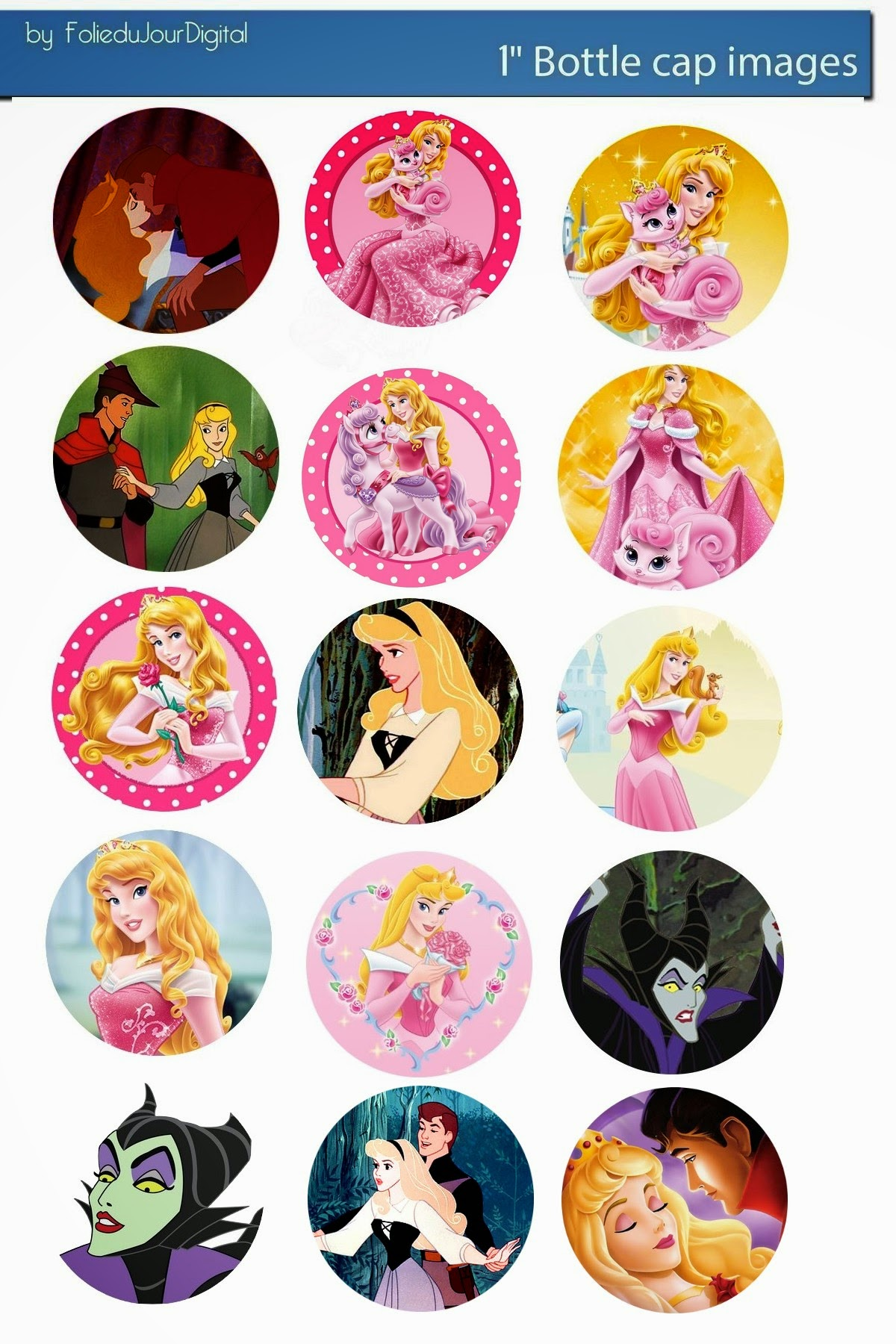 Disney printable magnets designs joy studio design for Bottle cap designs