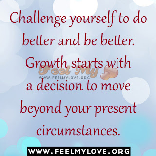 Challenge yourself to do better