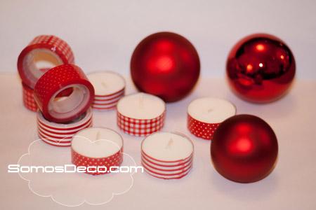 decoracion de navidad con washi tape
