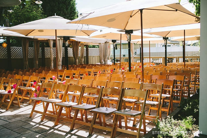 outdoor wedding ceremony set up at el dorado kitchen sonoma