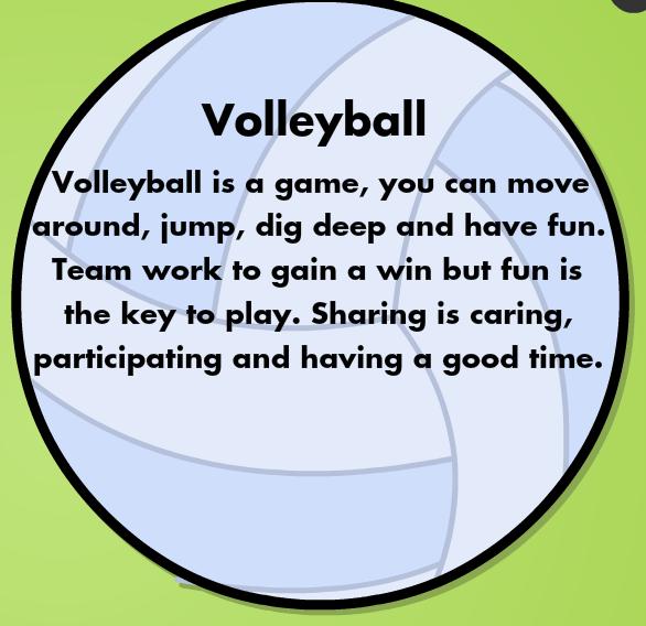 volleyball poem
