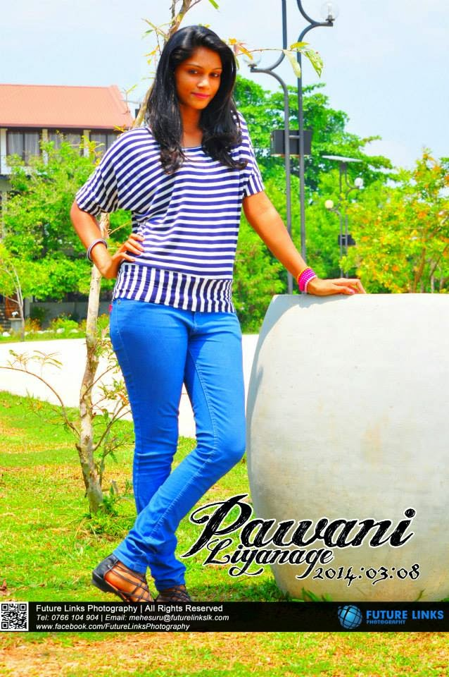 Pawani Liyanage jeans blue