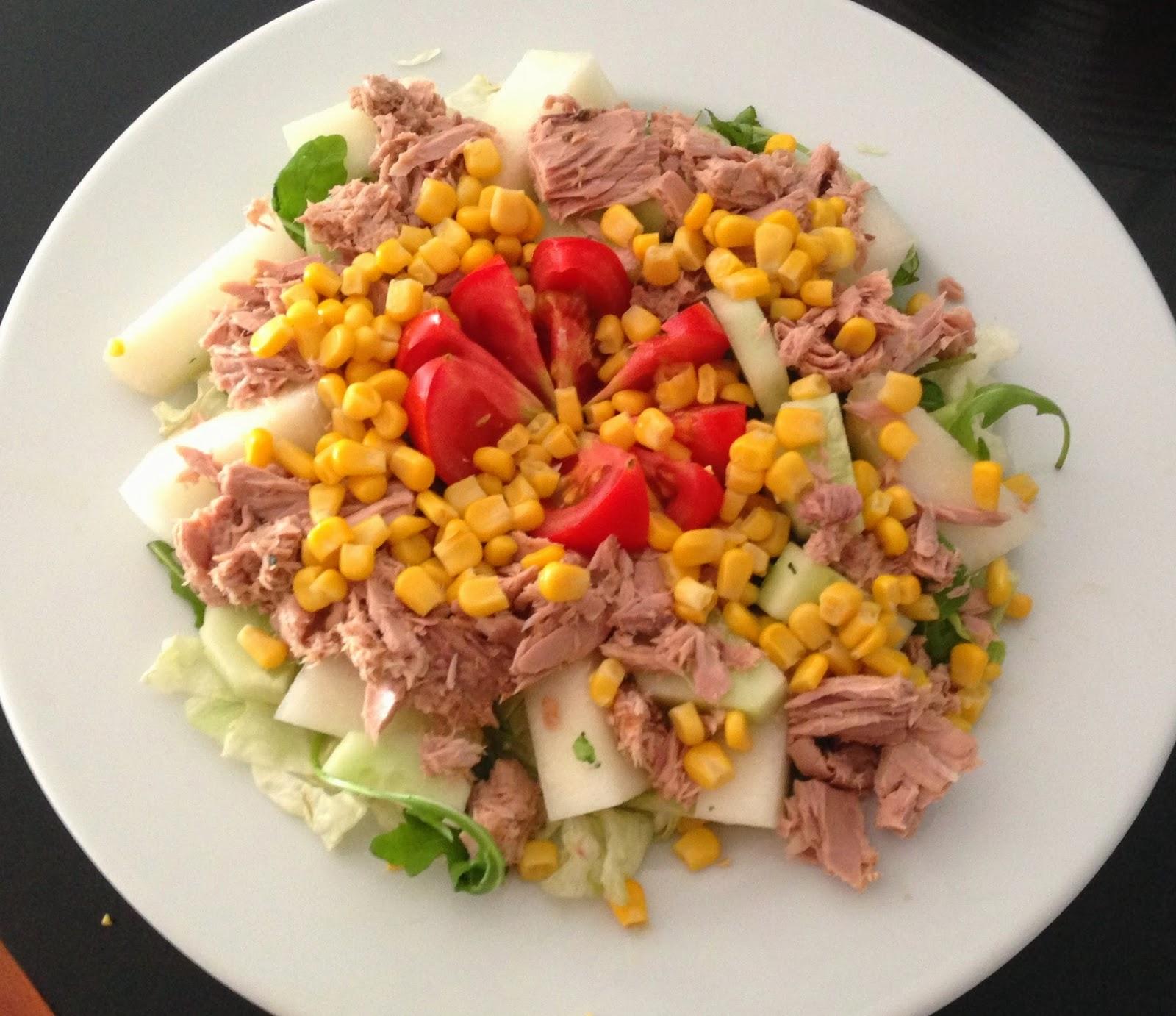 Ideias De Saladas ~ Salada mix com atum