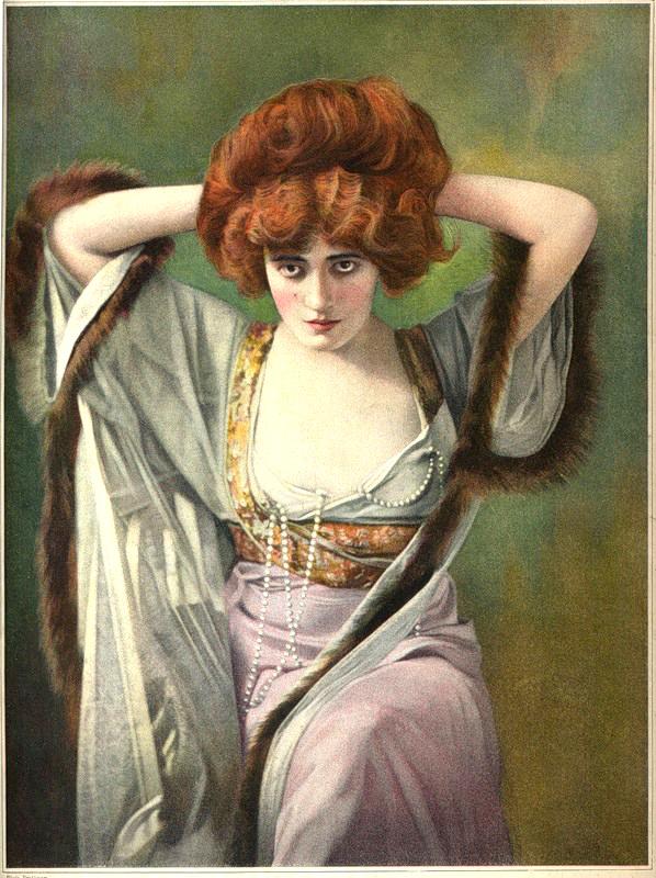 Red Hair In Paintings Dark Red Hair