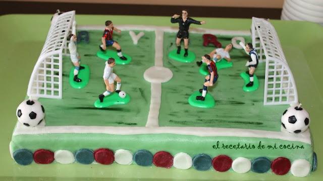tarta de campo de futbol de alvaro