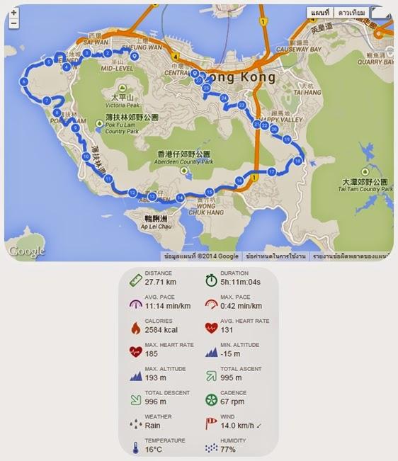 เส้นทางวิ่งรอบเกาะฮ่องกง (ฝั่งตะวันตก)