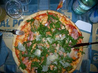 Parma Ham and Rucola Pizza