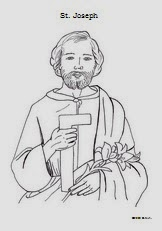 St joseph coloring pages and activities catholic inspired for St joseph coloring page
