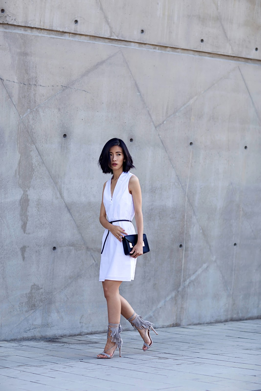 von vogue theory white dress