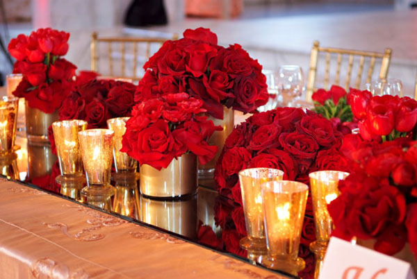 Wedding Inspirations Red Magenta And Gold