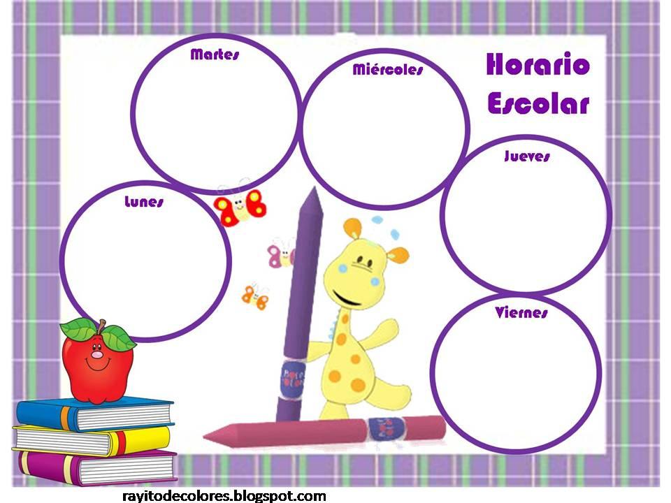 rayito de colores: horarios escolares