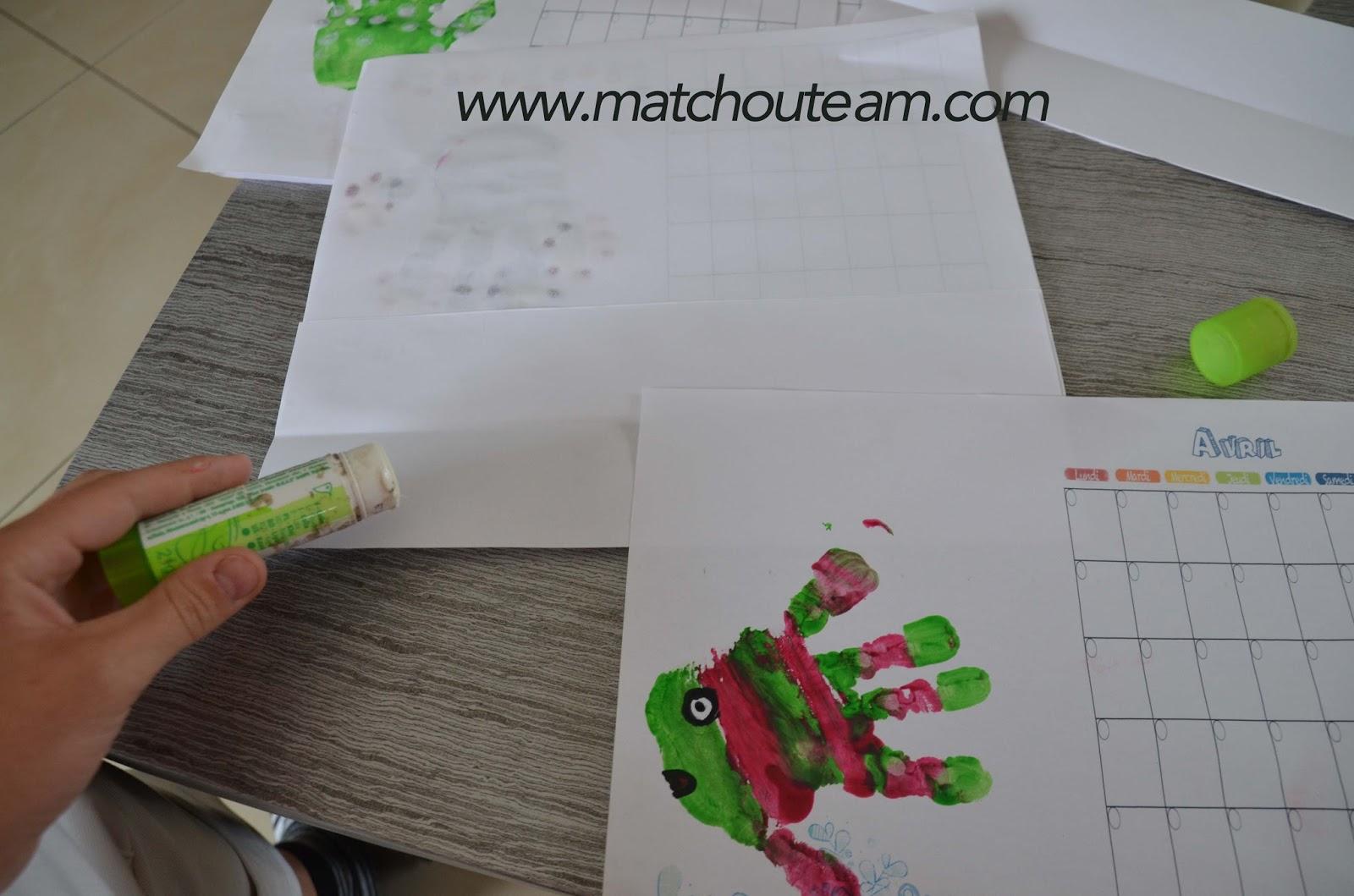 fabriquer un calendrier avec un enfant