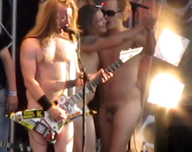 Naked straight marching band men