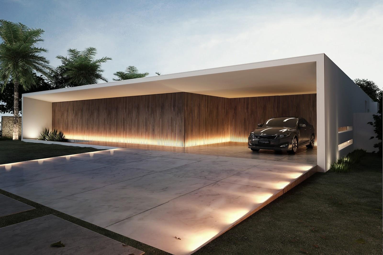 Casa fachada branca minimalista moderna decor salteado 15 for Casas tipo minimalista