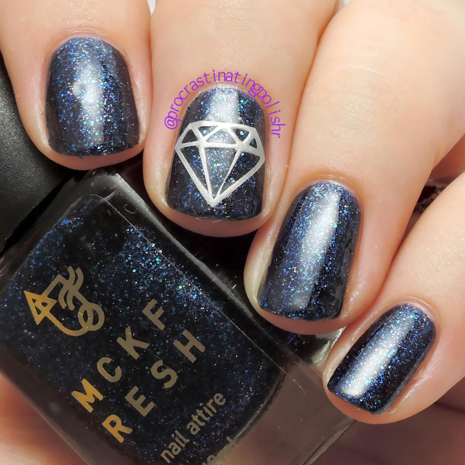 Mckfresh Diamond vinyl nail decals