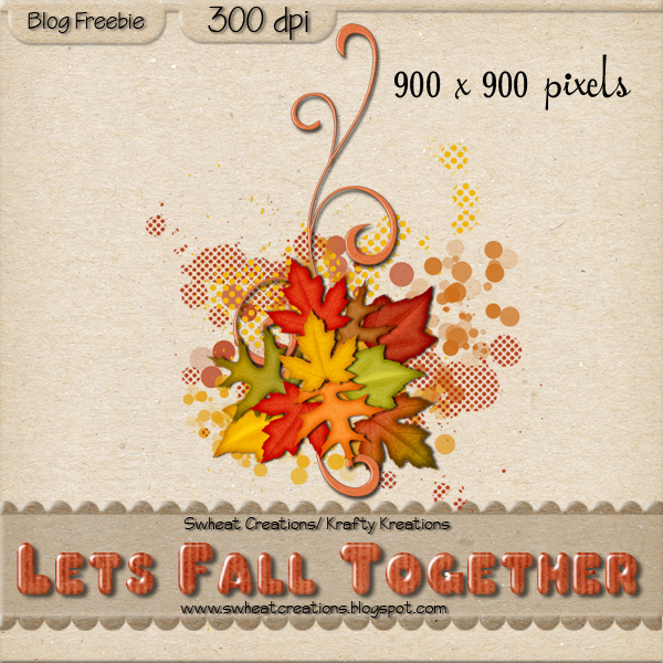 Swheat Creations: Lets Fall Together Freebie