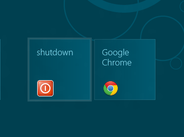 Add Shutdown tile to Windows 8 Metro