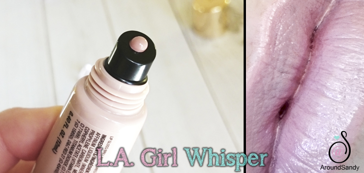 LA Girl glazed lip paint whisper swatches