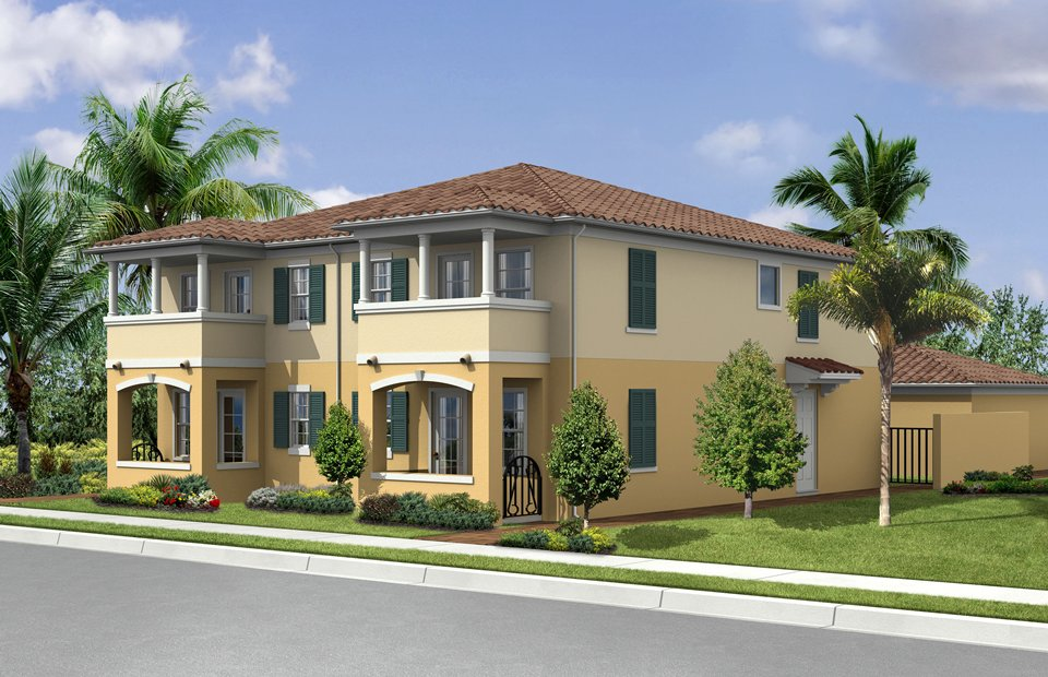 Modern homes front designs florida home decorating for Florida home designs