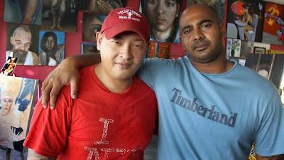 Andrew Chan (left) and Myuran Sukumaran (right)