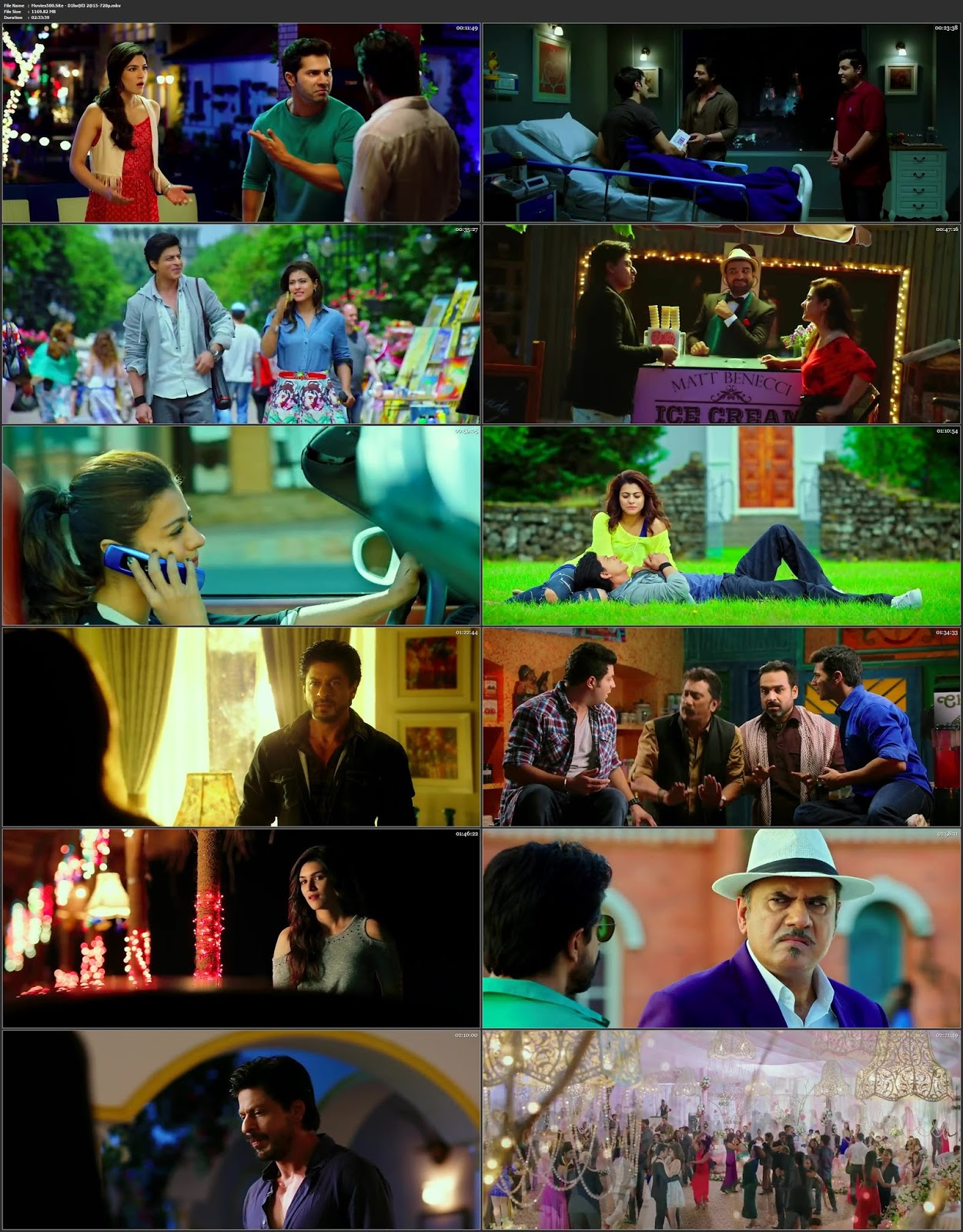 Dilwale 2015 Bollywood 300MB Movie Hindi BluRay 480p