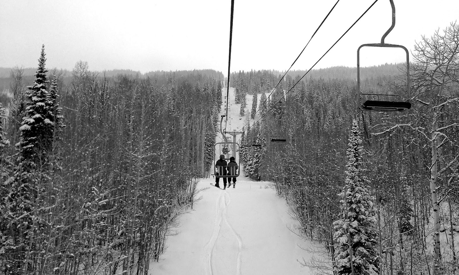Ski lift at Powderhorn, in Colorado