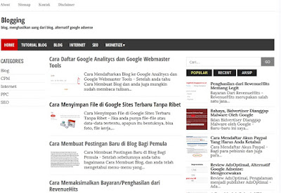 template blog gratis romeltea media