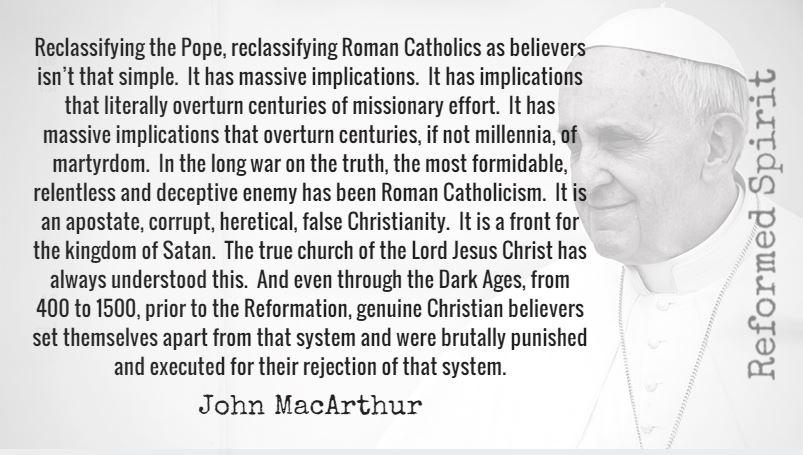 John macarthur are catholics saved
