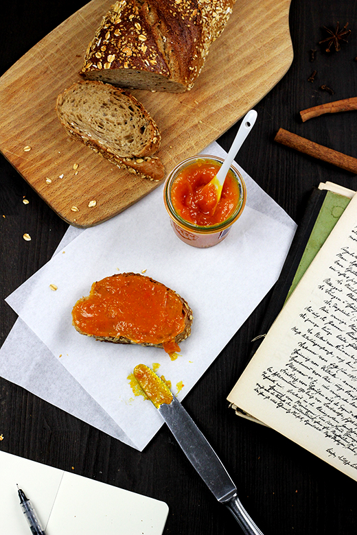 Kürbis-Orangen-Marmelade | Geschenke aus der Küche | Rezept, Holunderweg18