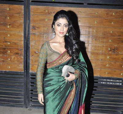 Actress Shriya Saran in Hot Saree Photos Gallery