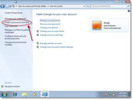 Create Reset Password Windows 7