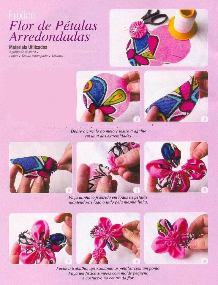 Esta flor de tela es sencilla de hacer y puedes usar cualquier manterial, desde fibras sinteticas hasta naturales. Quedara excelente para accesorios para el