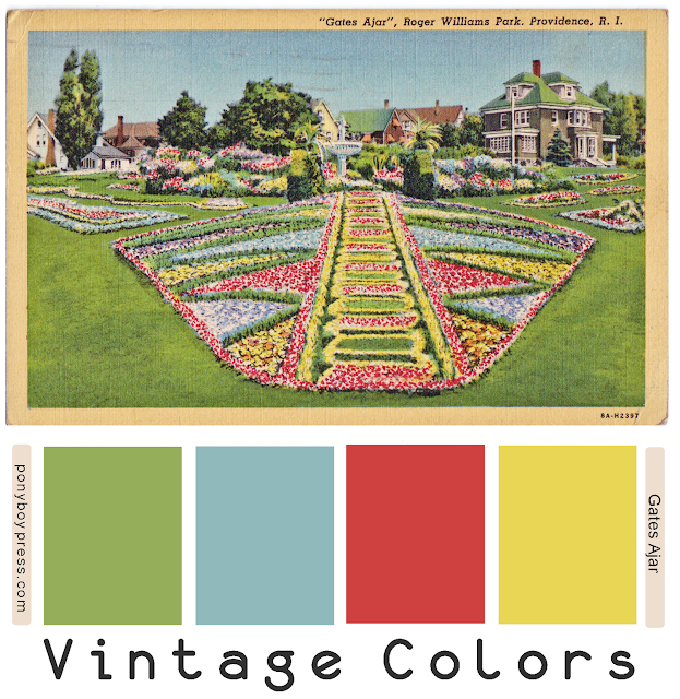 Vintage Color Palette - Gates Ajar - Providence RI - Ponyboy Press